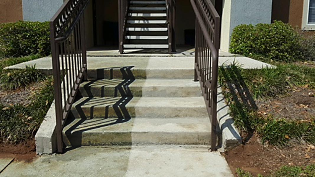 Pressure Washing - Side by SIde Results